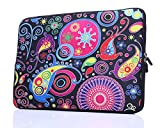 13.3-Inch to 14-Inch Laptop Sleeve Case Neoprene Carrying Bag With hidden handles For Macbook/ Notebook/ Ultrabook/ Chromebooks (classic colorful)