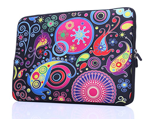 Lightweight Notebook Case - 11.6-Inch to 12-Inch Neoprene Laptop Sleeve Case Bag with hidden handles For 11