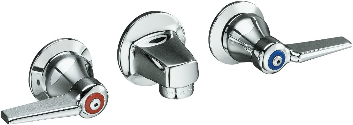 Kohler K 8046 5a Cp Triton Shelf Back Lavatory Faucet Polished Chrome Touch On Bathroom Sink Faucets