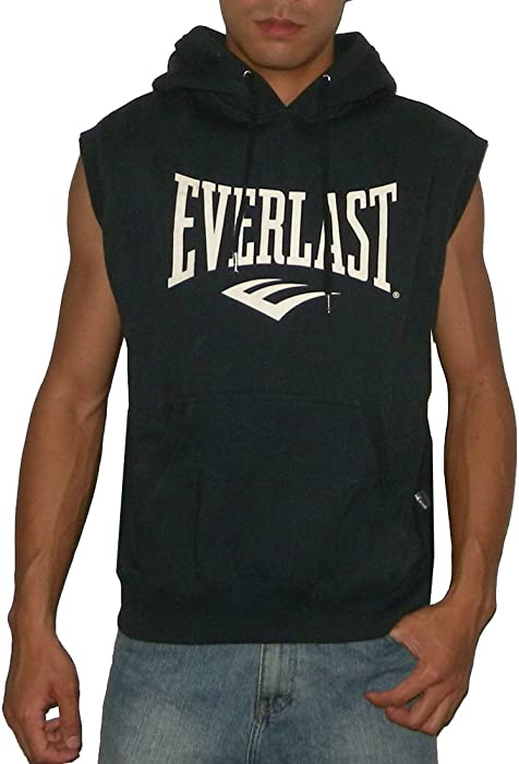 9ea23f68c60b3 Mens Athletic Sleeveless Pullover Hoodie Sweatshirt   Vest. Back.  Double-tap to zoom