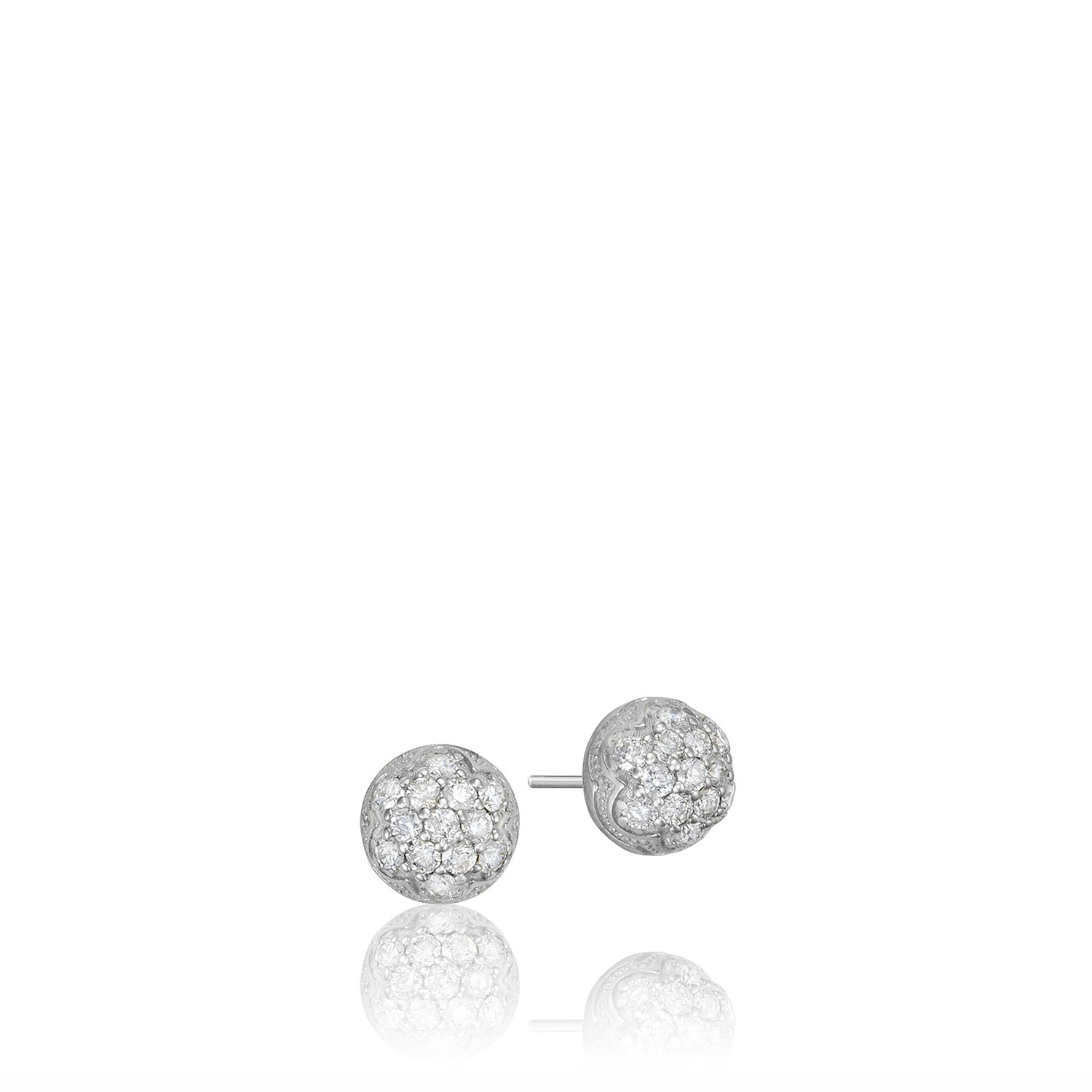 Tacori SE203 Sonoma Mist Sterling Silver Diamond Stud Earrings (0.40 cttw, H-I Color, I2-I3 Clarity)