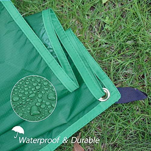 "Geertop 2 Person Ultralight Waterproof Tent Tarp Footprint Ground Sheet Mat for Camping Hiking Picnic (Green, XL (4'9"" x 6'11""))"