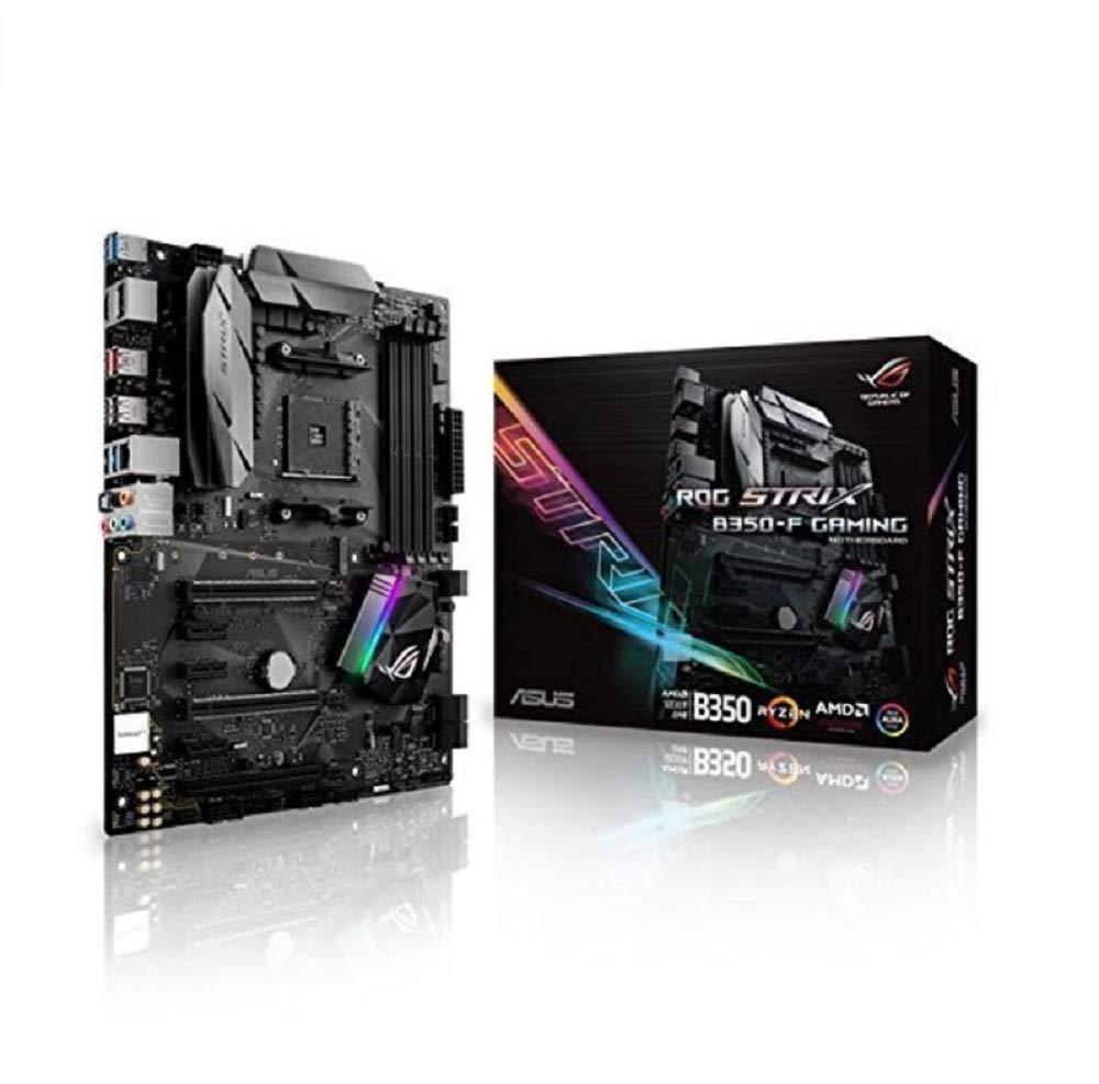ATX, AMD B350, Ryzen, 4x DDR4 Speicher, USB 3.1, M.2 Schnittstelle Asus ROG Strix B350-F Gaming Mainboard Sockel AM4