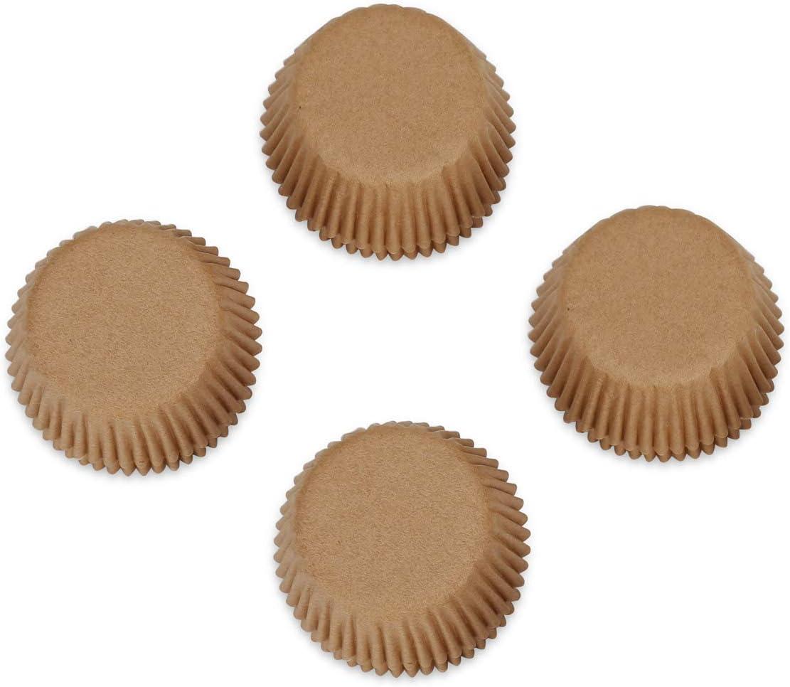 Papier Gifbera Caisses de cuisson en papier naturel pour cupcakes inodore Couleur naturelle Mini naturel Pack of 300