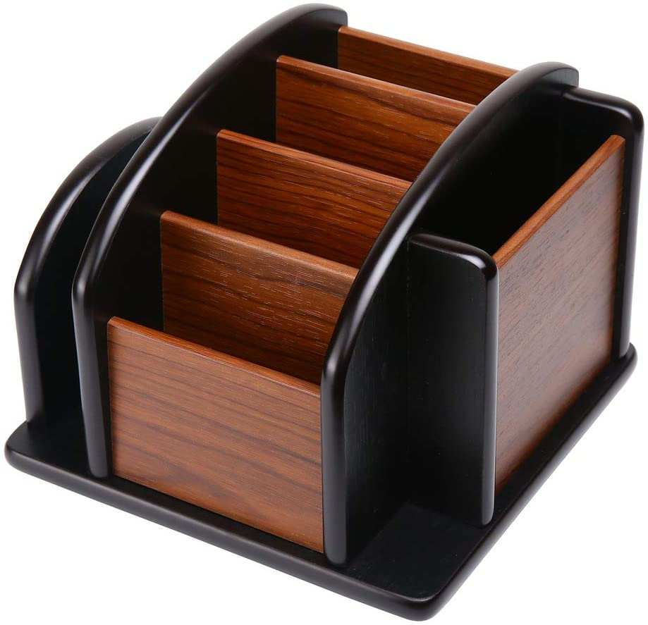 Siveit Wood Office Supplies Desk Organizer Rack Desktop Office Supplies Storage Organizer (Desk Organizer-6)