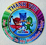12 PJ Masks Birthday Party Favor Stickers