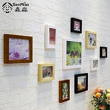Unbekannt Bilderrahmen*10, Euro Style Massivholz Foto Wand Kleines Wohnzimmer  Wand Dekoration Wand