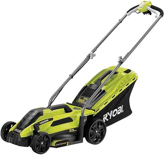 Ryobi RLM13E33S RLM13E33S-Cortacésped eléctrico (ancho de corte de 33 cm, 1300 W, Negro, Verde: Amazon.es: Bricolaje y herramientas