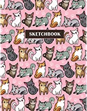 Sketchbook: Blank Notebook for Drawing, Writing, Painting or Doodling for Kids (Cute cats)