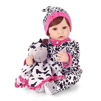 Haixin 22 pulgadas 55 cm Reborn, muñeca realidad bebé imán chupete ...