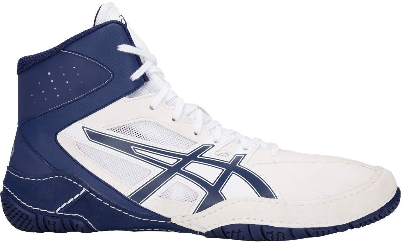 ASICS Matcontrol Men's Wrestling Shoe, White/Indigo Blue, 10.5 M US by ASICS