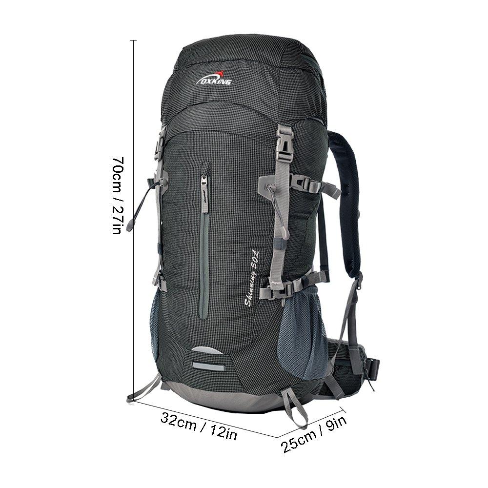 dd54725ea0e0 Oxking 50 Liter Outdoor Sports Hiking Climbing Camping Backpack Waterproof  Professional Mountaineering Bag Large Travel Trekking Rucksack Daypacks
