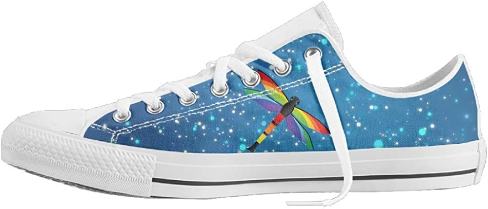 Dragonfly Bold Color Unisex Classic Canvas Lace Up Shoes Sneakers For Men /& Women