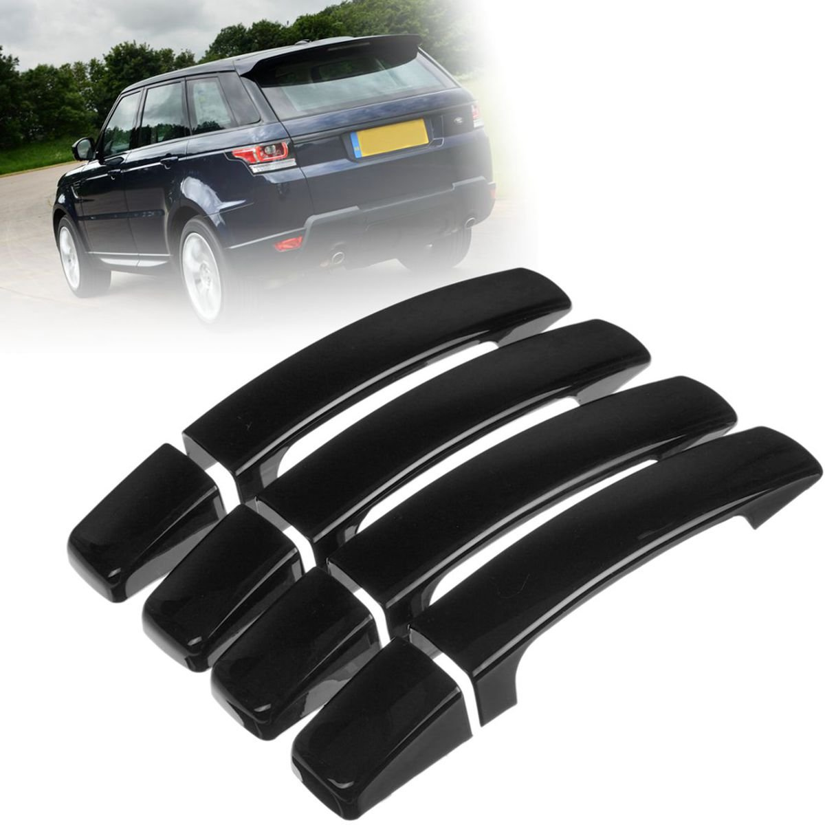 Yoton Exterior Accessories 8X ABS Gloss Black Door Handle Cover Trim for Range Rover Sport Discovery 3 Freelander 2 2005-2009