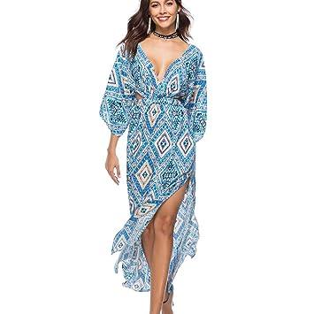 wave166 Vestido, Sexy Primavera y Verano Vestido de Las ...