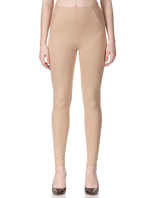 Regna X Boho Women's Comfy Stretch Skinny Cotton Jegging Colored Pants 8BPNA17901_P