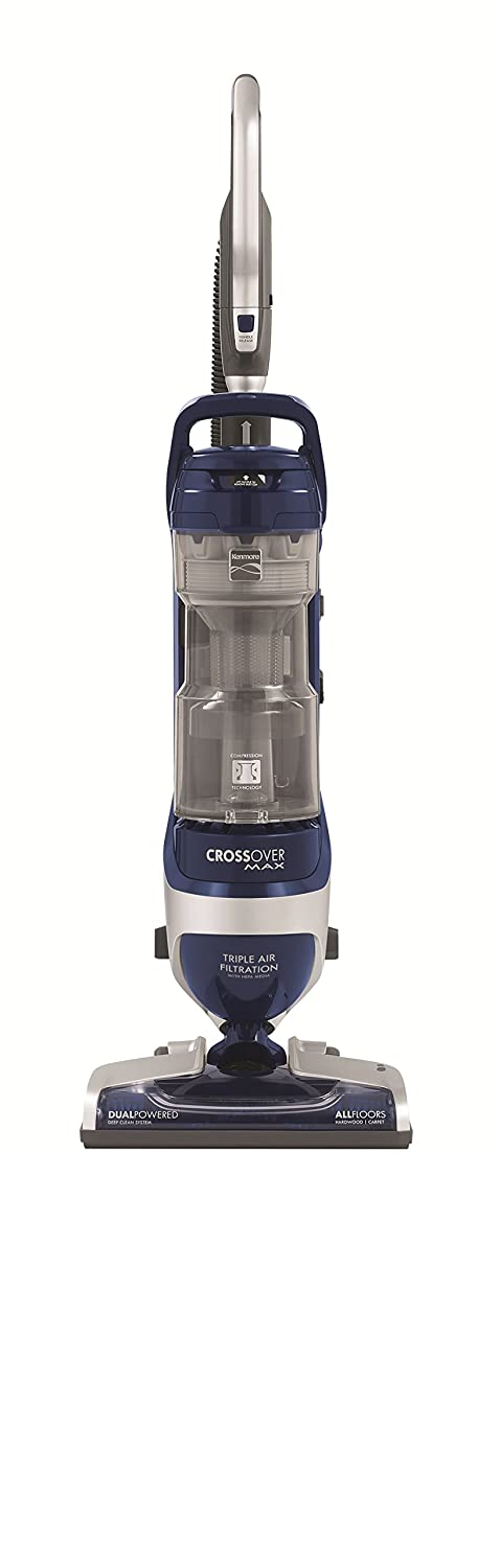 Kenmore Elite 31220 Pet Friendly Bagless Upright Vacuum Cleaner for Carpet and Hard Floors with Liftaway Canister and HEPA Filtration, Blue