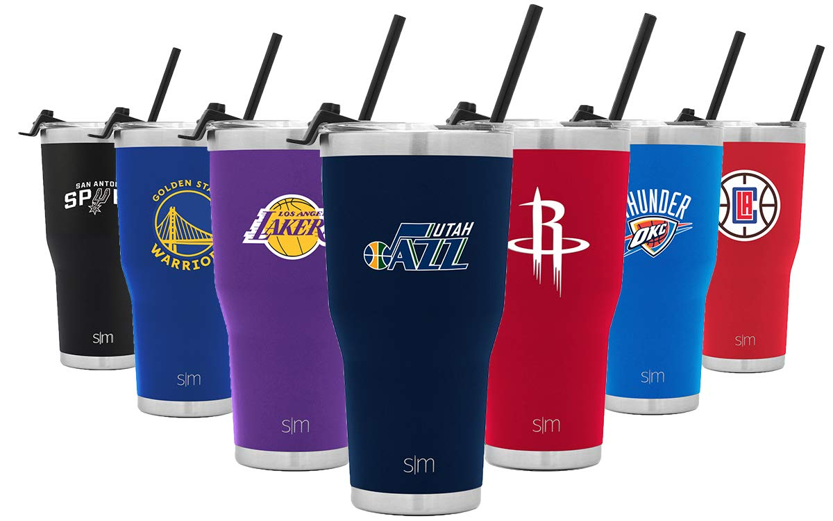 Simple Modern Utah Jazz 30oz Cruiser Tumbler with Straw - NBA - 18/8 Stainless Steel Vacuum Insulated Travel Mug by Simple Modern