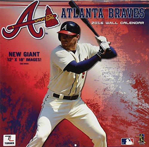 "Turner Atlanta Braves 2016 Team Wall Calendar, September 2015 - December 2016, 12 x 12"" (8011841)"