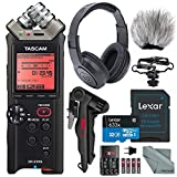 Tascam DR-22WL Portable Handheld Recorder with Wi-Fi Deluxe Bundle with 32GB + Xpix Tripod + Batteries&Charger + Windscreen + Fibertique Cloth + More