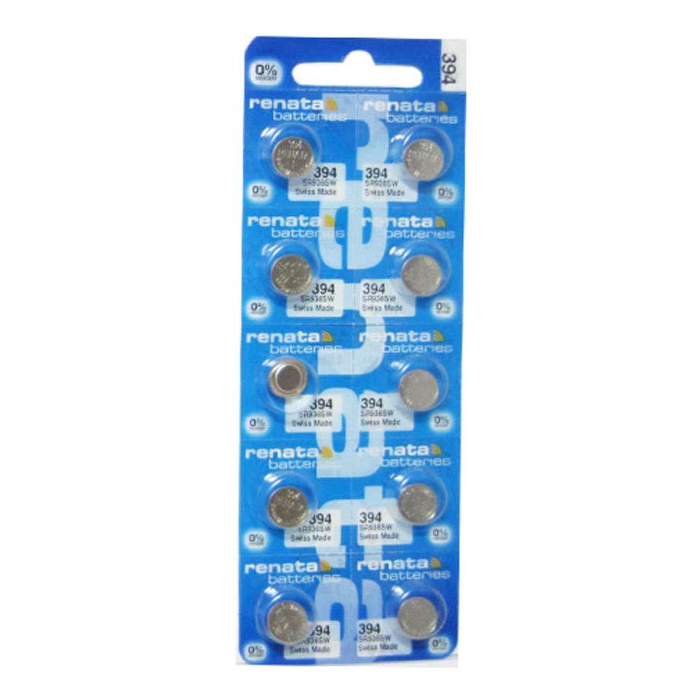 Renata Batteries 394/SR936SW 1.5V Silver Oxide Watch Battery Mercury Free (10 Pack)