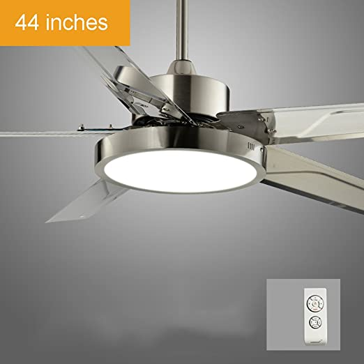 Sala de estar con control remoto Ventilador de techo con luz LED Dormitorio Casa moderna con
