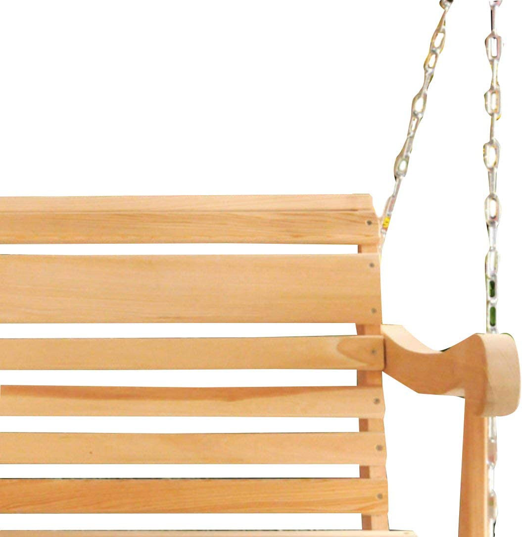 Chains Included Ecommersify Inc 5 Ft Scandinavian Style Grandpa Porch Swing from High end Hand Selected Rot-Resistant Cypress Wood