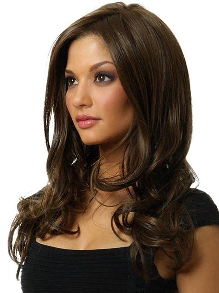 AmorWig Heat Resistant Women Wig--Fashion Long Big Wavy Dark Brown Hair Wig WGS-R03