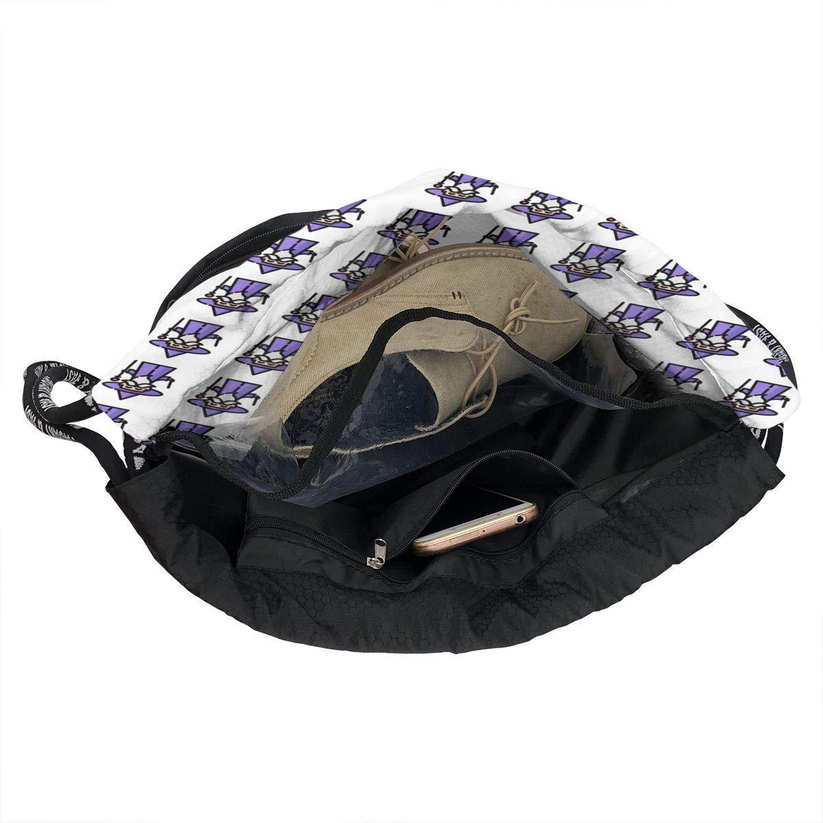 HUOPR5Q Wizard Drawstring Backpack Sport Gym Sack Shoulder Bulk Bag Dance Bag for School Travel