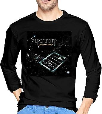 Thimd Supertramp Camiseta de Exterior de Manga Larga Suave para Hombre, 100% algodón, Camisetas con Estampado, Camiseta Negra: Amazon.es: Ropa y accesorios