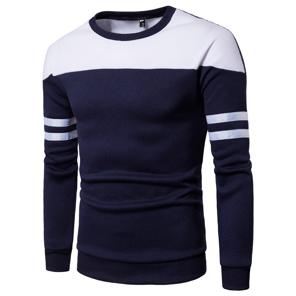 Men's Long Sleeve Hipster Hip Hop Tees Casual Fashion Patchwork T Shirts