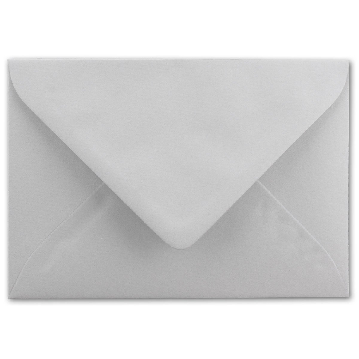formato DIN A6 con buste in formato DIN C6 dotate di bordo da inumidire senza scatola 20 Karten-Sets grigio chiaro Set/di cartoncini pieghevoli