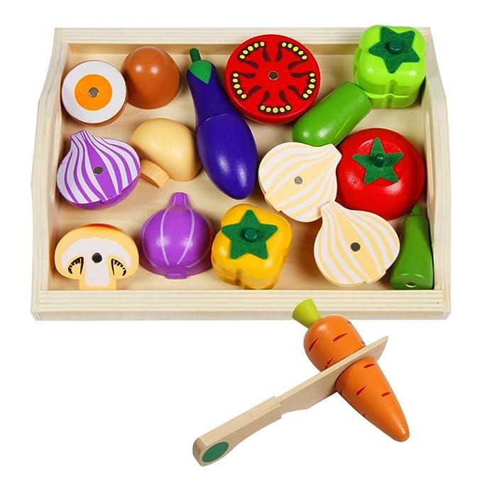 5 opinioni per Cibo Giocattolo Legno Magnetico Frutta e Verdura Giocattolo da Tagliare