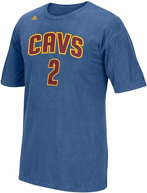 adidas Kyrie Irving Cleveland Cavaliers NBA Hombres Azul Reproductor Nombre y número Pigmento Dye Jersey Camiseta