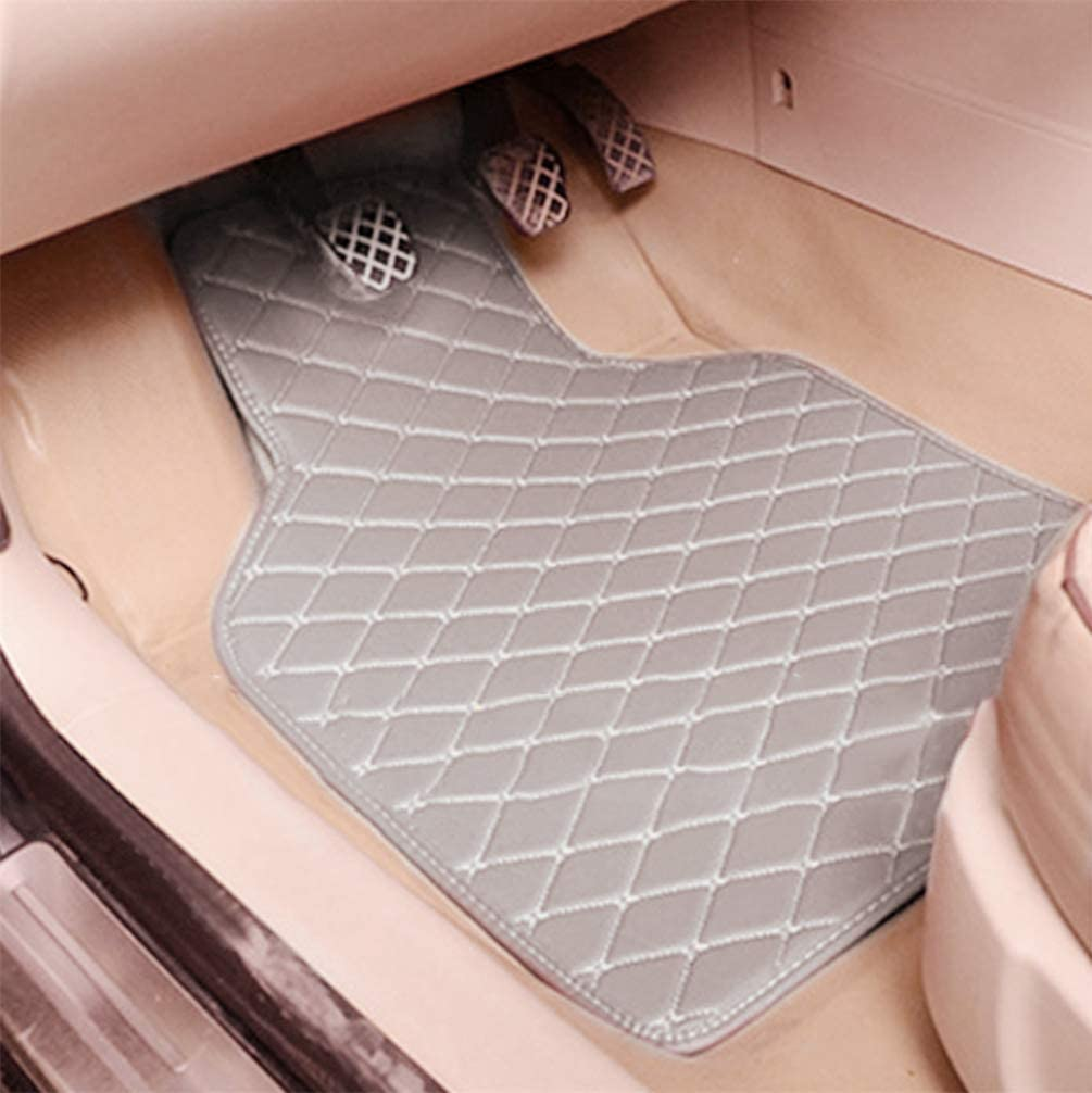 Lot de 4 tapis de sol de voiture pour Citro/ën C2 C3 C4 C5 C6 DS3 DS4 DS5 C4L C-Zero E-mehari Beige DB-E2X7265