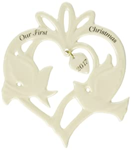 Lenox 869903  Annual China Ornaments 2017 Our First Christmas Together Doves