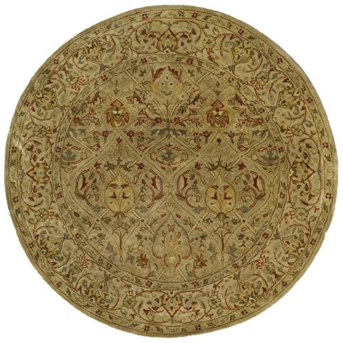 8 Round Area Moss Rug - Safavieh Persian Legend Collection PL819G Handmade Traditional Moss and Beige Wool Round Area Rug (8' Diameter)