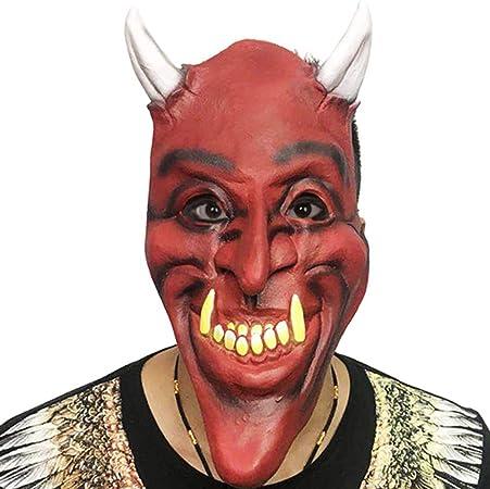 Careta De Demonio, para La Cabeza, Látex, Color Rojo Máscaras De ...