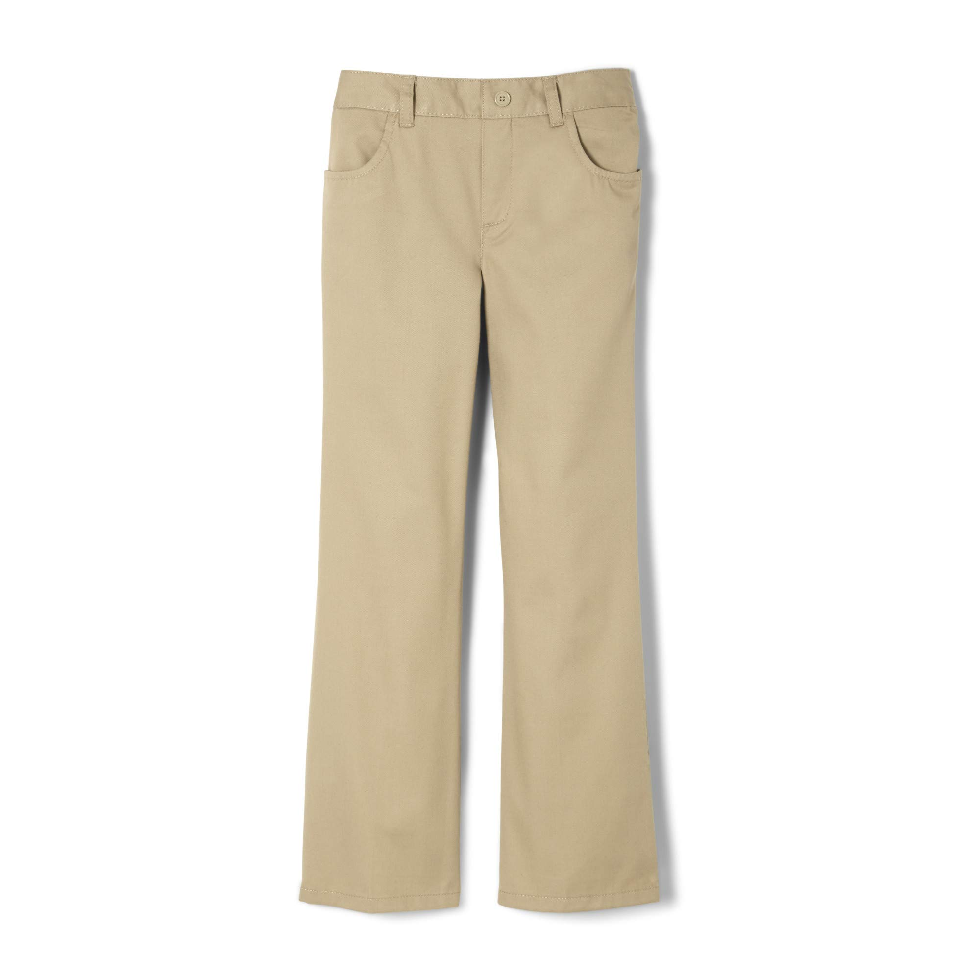 French Toast Girls Plus Size' Twill Bootcut Pull-On Pant, Khaki, 20.5 by French Toast (Image #1)