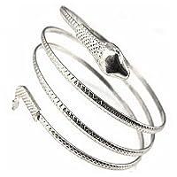 Amesii punk moda serpente a spirale a spirale superiore del braccio Cuff bracciale bracciale bracciale