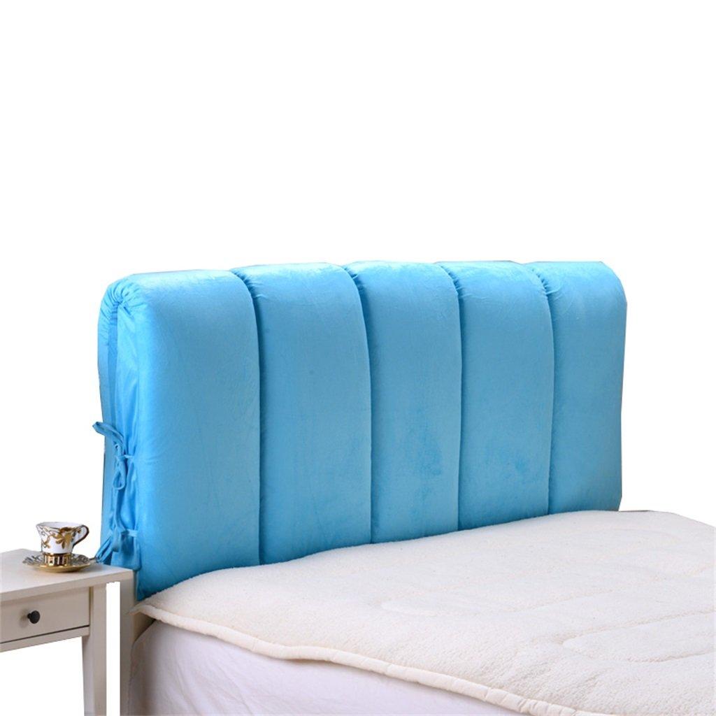ベッドクッションリムーバブル&ウォッシャブルダブルベッド背中ピロー腰部サポートベッドサイド背もたれベッドサイドカバー、青 ( サイズ さいず : 160*60cm ) B074W4GKFQ 160*60cm 160*60cm