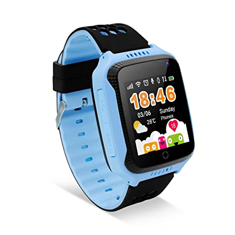 Diggro Smartwatch llamada Anti-lost SOS 1.44 inch GPS Touch Kids Tracker Smart Watch con