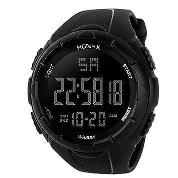 varios colores 59643 9111e KanLin1986 Reloj Digital Impermeable para Hombre, Reloj LED Digital  Deportivo para Mujer Fecha de Alarma Reloj Impermeable con Banda  elástica(No ...