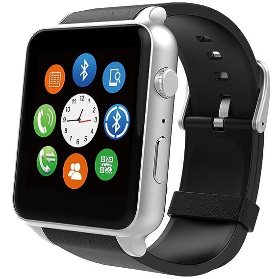 GT-88 Smart Watch Bluetooth Conectividad NFC Deportes reloj con monitor de ritmo cardíaco, pantalla táctil y carga magnética para Android y Apple iOS: ...