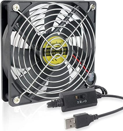 Amazon | Mauknci USB ファン 3段階風量調整 5V 静音 12cm USB 冷却 ...