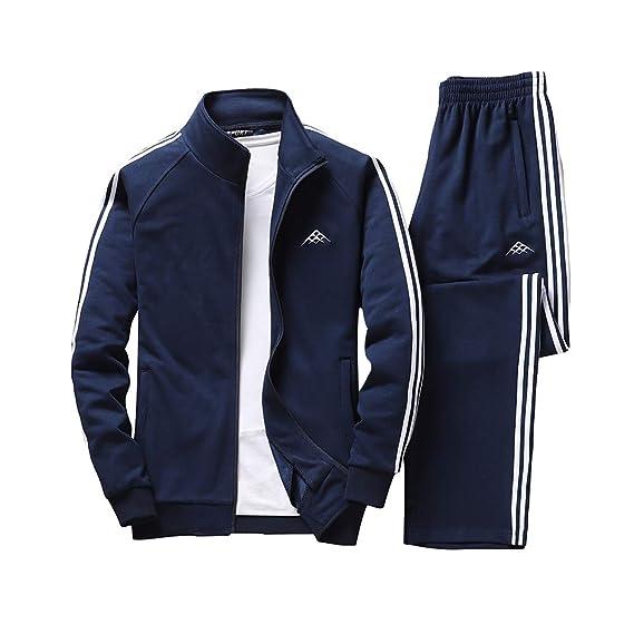 MAGE MALE Herren Sportanzug Freizeitanzug Jogginganzug Trainingsanzug Sportlich Jacke & Hosen Mit Plus Größe