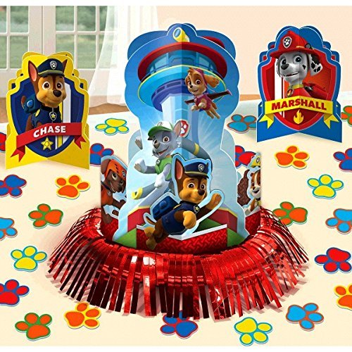 Paw Patrol Party Table Decorations Kit ( Centerpiece Kit ) 23 PCS - Kids Birthday and Party Supplies Decoration