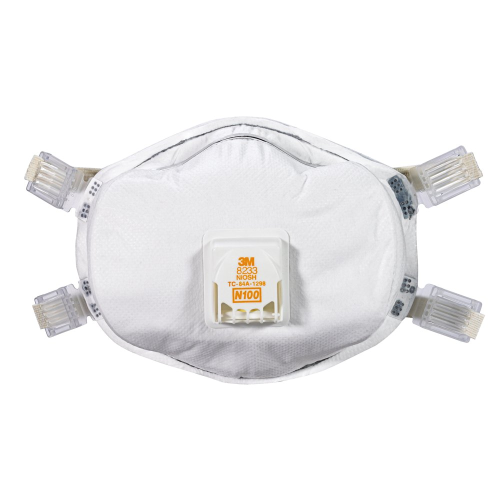 3M 8233PA1-A-PS Lead Paint Removal Valved Respirator by 3M (Image #2)