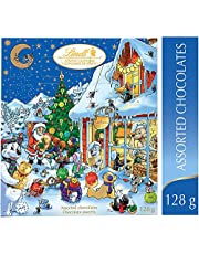 Lindt Christmas Advent Calendar 2020 Christmas & Holiday, Assorted Chocolates Gift Box, 128g