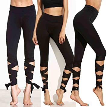 5b620402b9b0c Buy AMA(TM) Hot Yoga Pants Ama(Tm) Women Sports Gym Yoga Workout Cropped  Leggings Fitness Lounge Athletic Pants Online at Low Prices in India -  Amazon.in